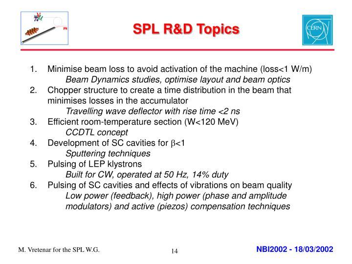 SPL R&D Topics