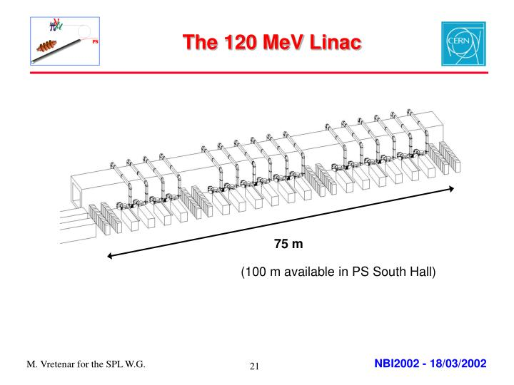 The 120 MeV Linac