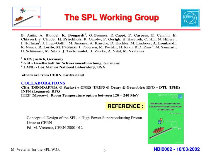 The SPL Working Group