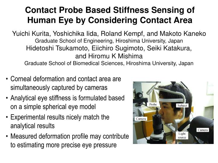 Contact Probe Based Stiffness Sensing of Human Eye by Considering Contact Area