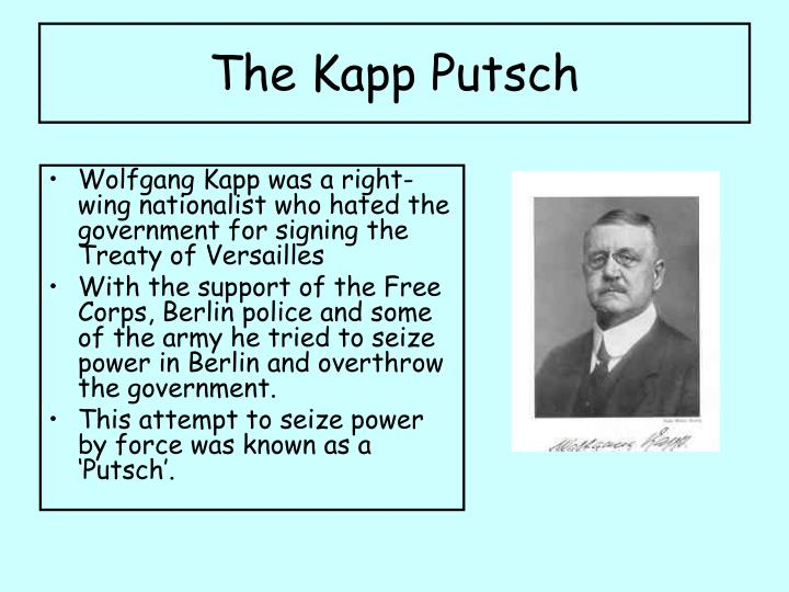 The Kapp Putsch
