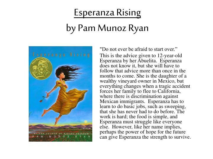 an analysis of esperanza rising by pam munoz ryan