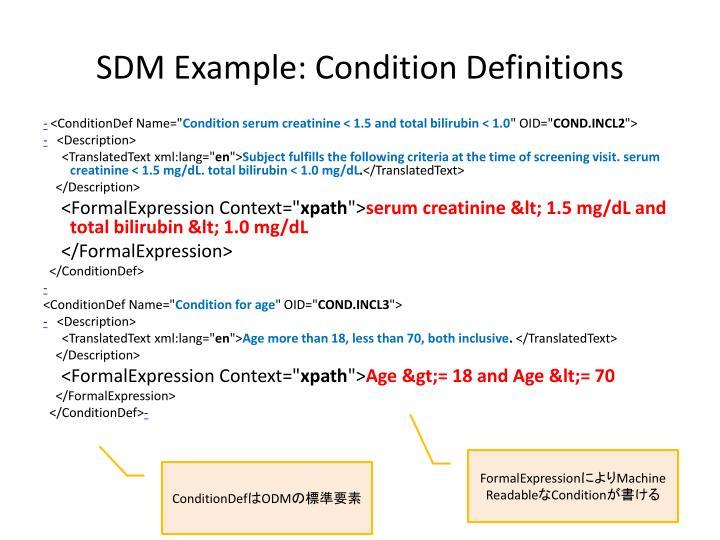 SDM Example: