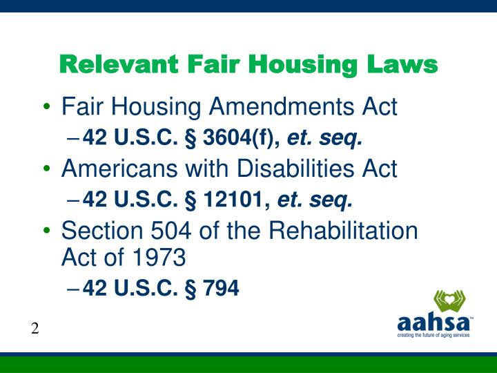 Relevant Fair Housing Laws