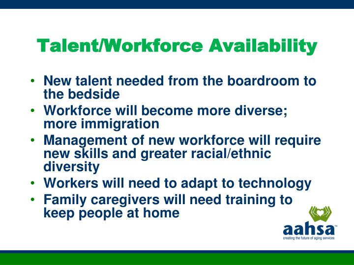 Talent/Workforce Availability