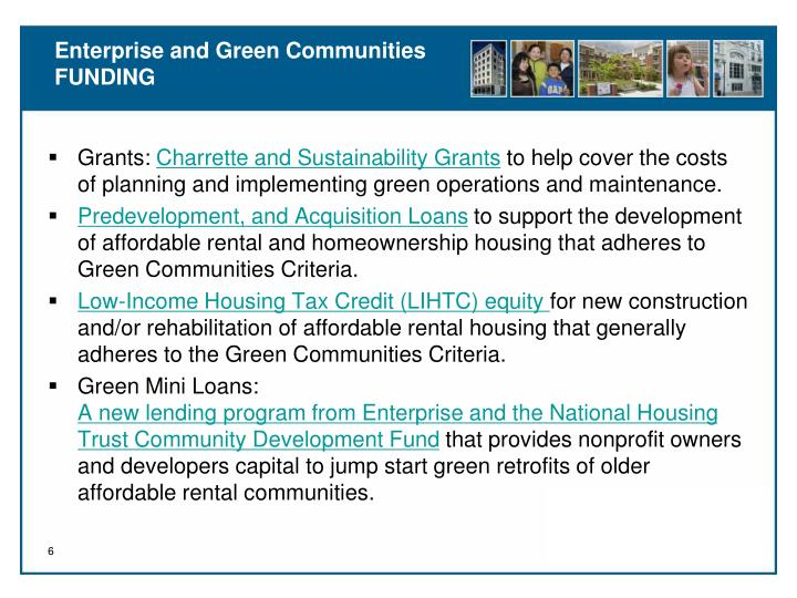 Enterprise and Green Communities FUNDING