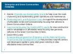enterprise and green communities funding