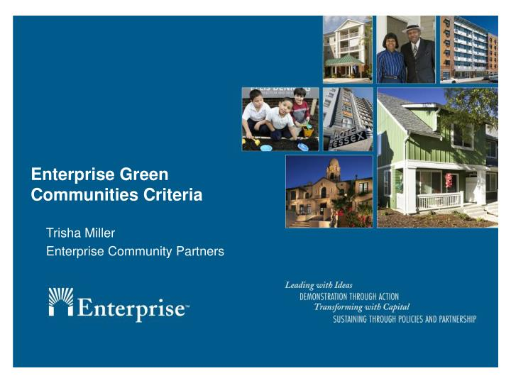 Enterprise Green Communities Criteria