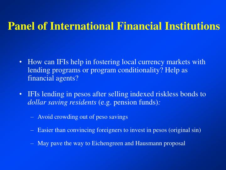 Panel of International Financial Institutions