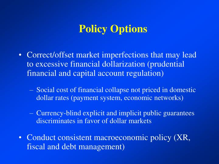 Policy Options