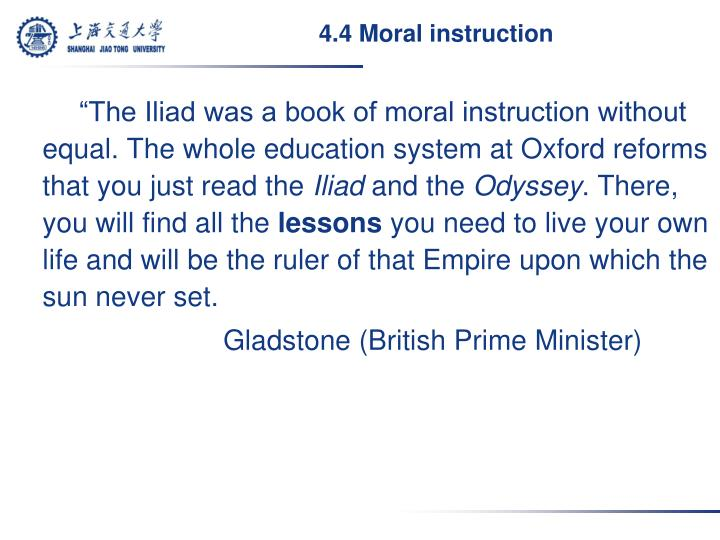 4.4 Moral instruction