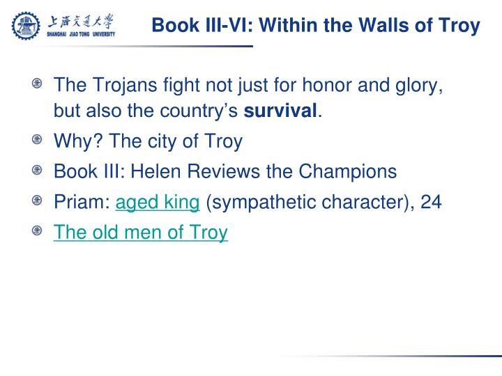 Book III-VI: Within the Walls of Troy