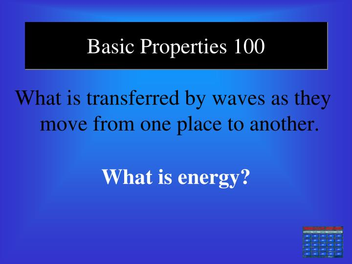 Basic Properties 100