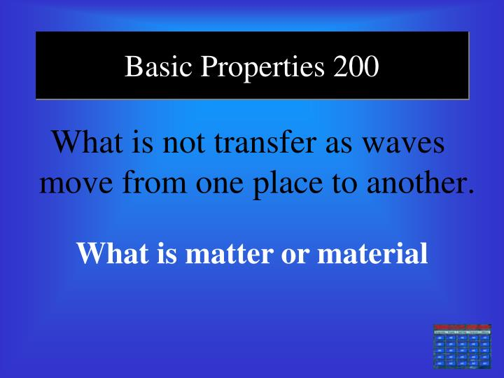 Basic Properties 200