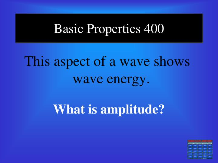 Basic Properties 400