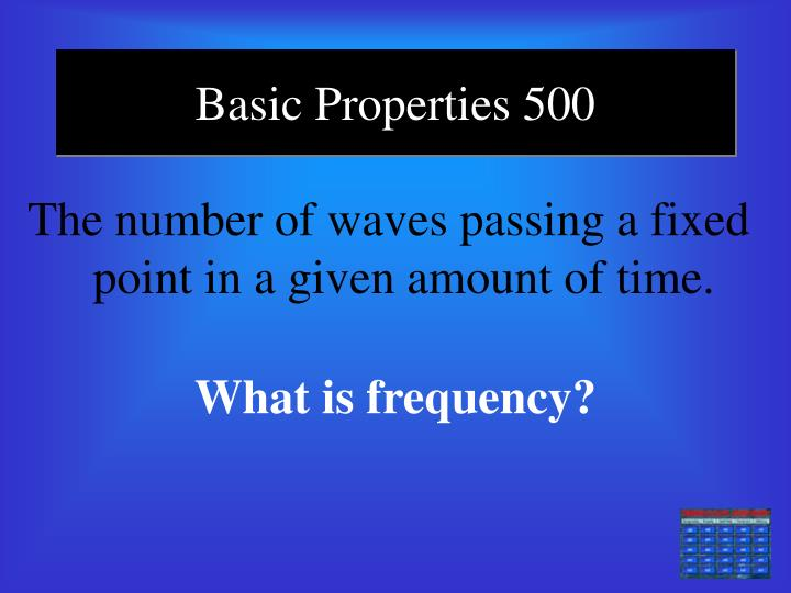 Basic Properties 500