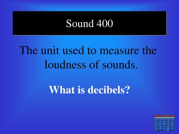 Sound 400