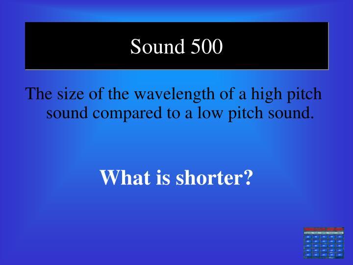 Sound 500