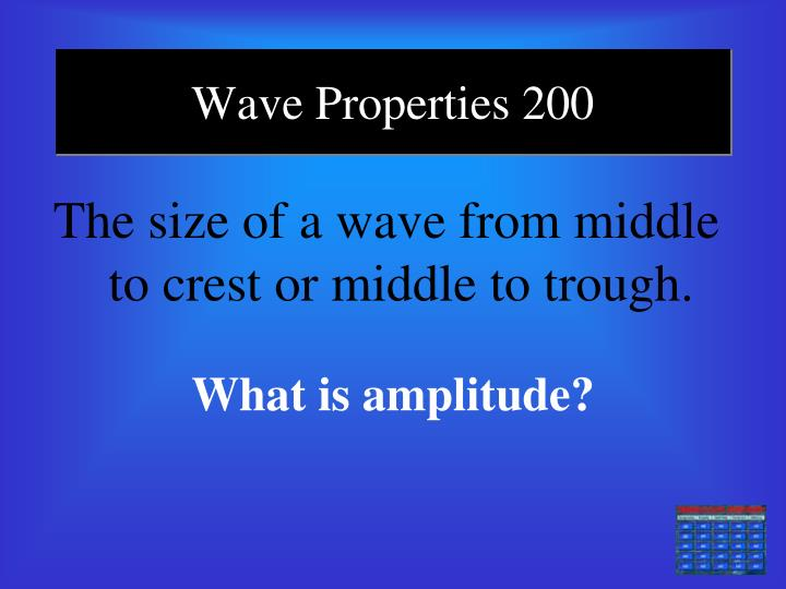 Wave Properties 200
