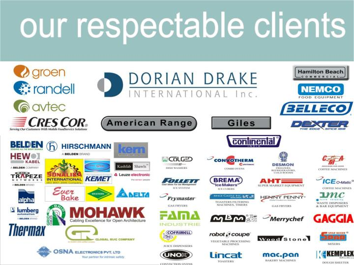 our respectable clients