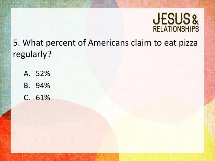 5. What percent of Americans claim to eat pizza regularly?