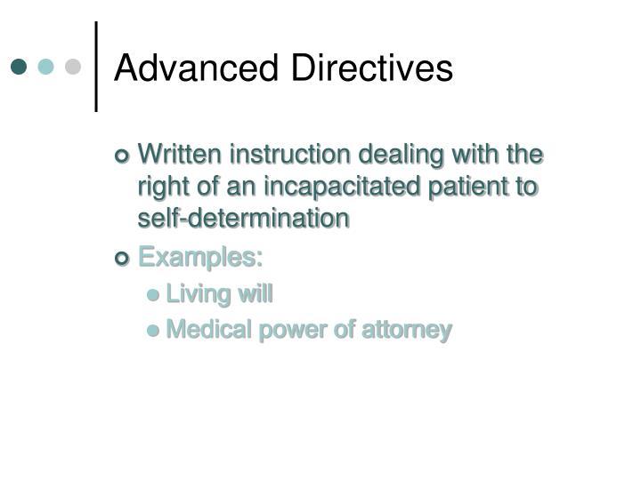 Advanced Directives