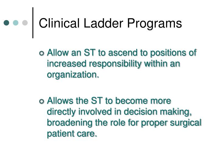 Clinical Ladder Programs