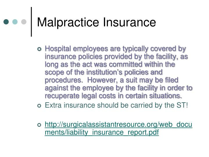 Malpractice Insurance