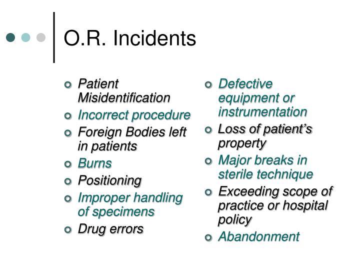 Patient Misidentification