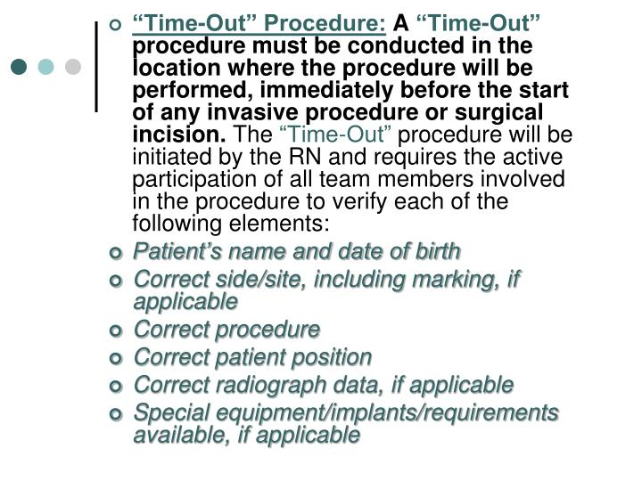 """""""Time-Out"""" Procedure:"""