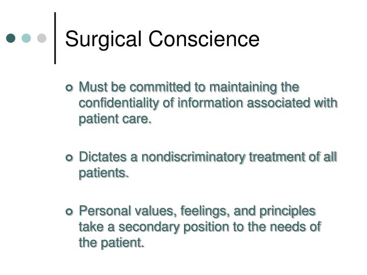 Surgical Conscience