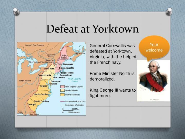 Defeat at Yorktown
