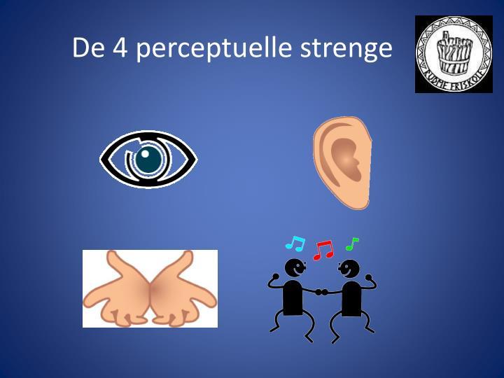 De 4 perceptuelle strenge