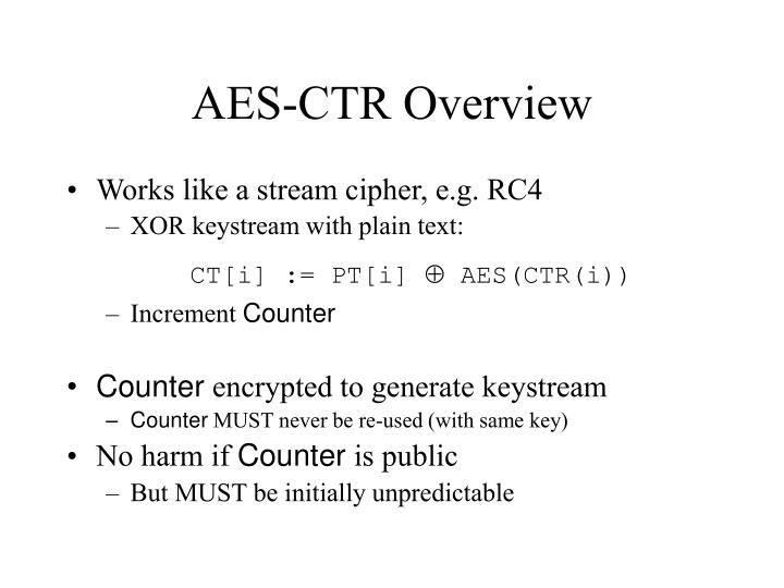AES-CTR Overview