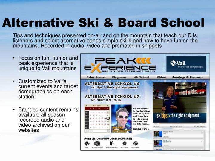 Alternative Ski & Board School