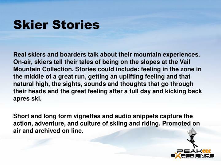 Skier Stories