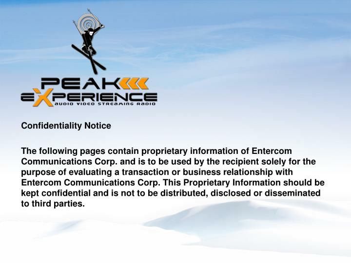 Confidentiality Notice