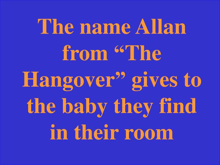The name Allan from