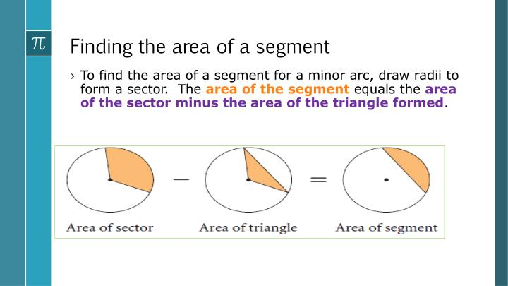 Finding the area of a segment