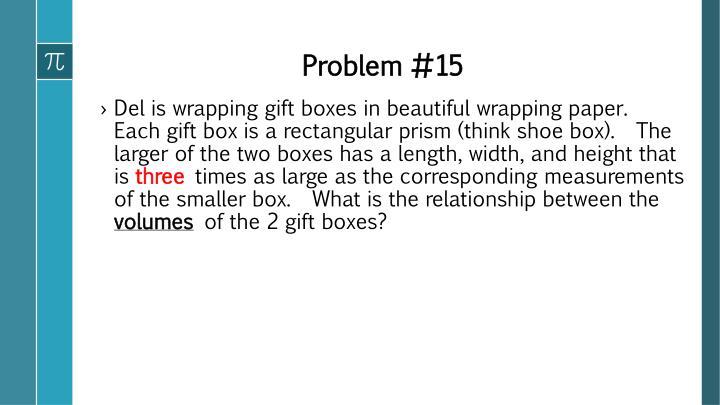 Problem #15