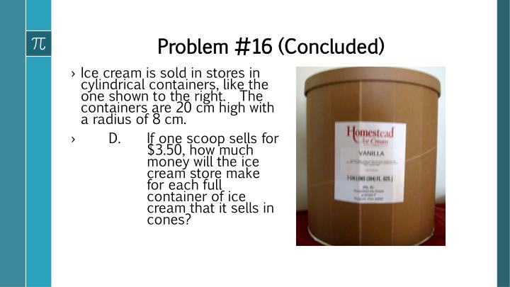 Problem #16 (Concluded)