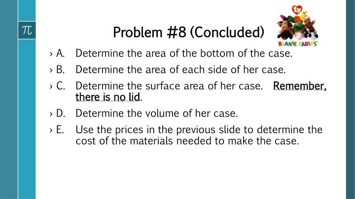 Problem #8 (Concluded)
