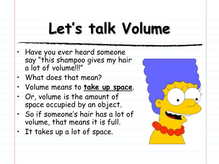 Let's talk Volume