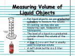 measuring volume of liquid objects
