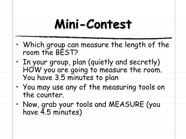 Mini-Contest