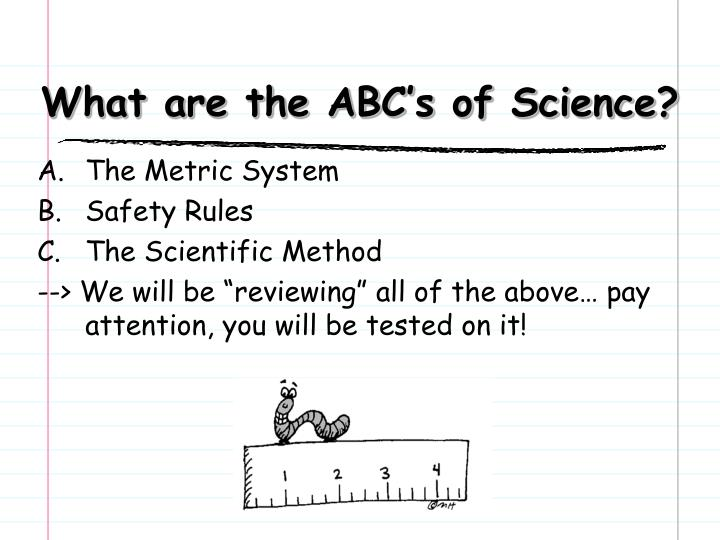What are the ABC's of Science?