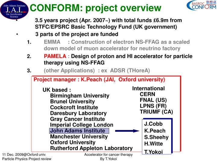 Conform project overview