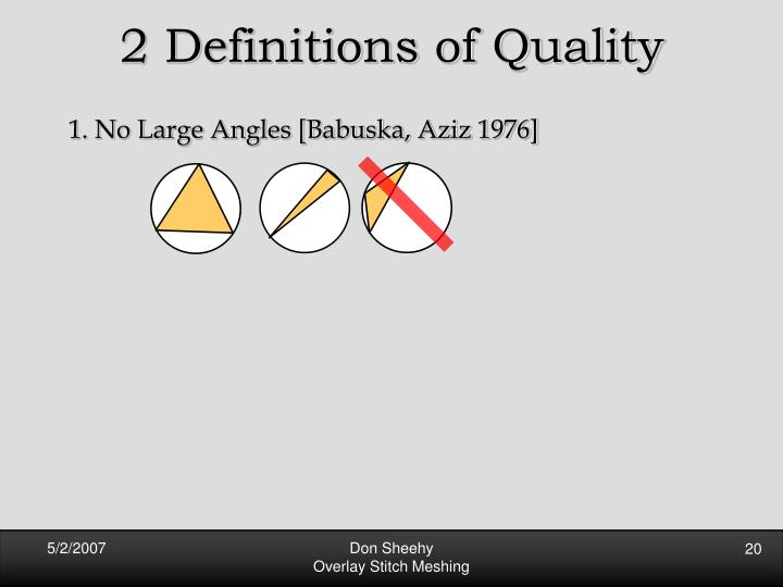 2 Definitions of Quality