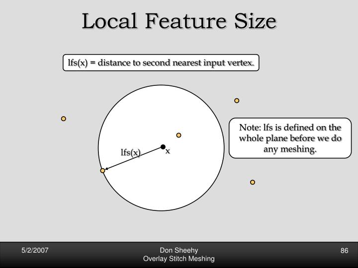 Local Feature Size
