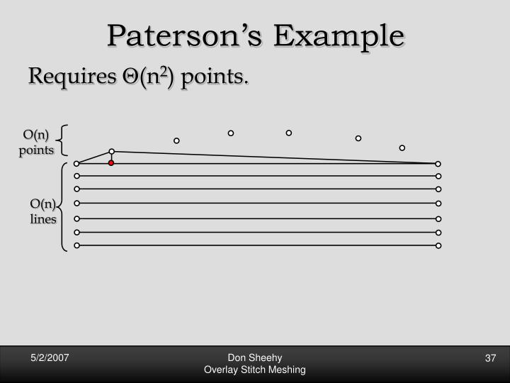 Paterson's Example
